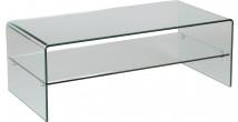 1431 - Table basse verre courbé 1 rayon