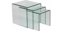 1445 - Tables gigognes verre courbé