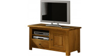 1789 - Meuble TV - Hifi LCD Plasma chêne 1 porte 1 tiroir