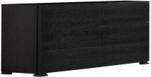2627 - Commode design 6 tiroirs chêne noir