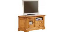 3536 - Meuble TV - Hifi LCD Plasma chêne 1 porte 3 tiroirs 1 niche