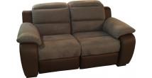 3886 - Canapé relaxation cuir et microfibre