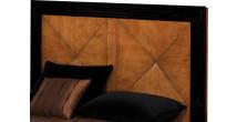Tête de lit merisier laque noire pour lit 160