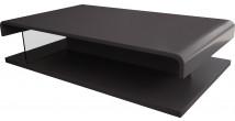 5570 - Table basse design double plateau laque gris ardoise