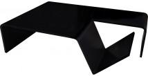 5573 - Table basse design porte-revues laque noire