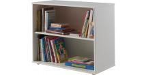 Bibliothèque enfant pin massif blanc 3 niches – PINO