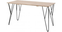 Bureau pin transparent pieds métal WILLIAM