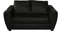 Canapé 2 places noir