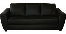 Canapé 3 places noir coutures contrastées