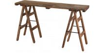 Console bois recyclé L140 pieds trétaux – NOVA