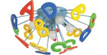 Plafonnier en metal et plastique mutlicolor 5 ampoules – KINDER
