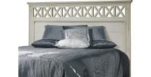 Tête de lit blanc pour lit 140 décors croisillons