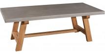 Table basse chêne et béton huilé