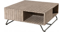 Table basse teck naturel 2 niches