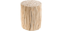 Table d'appoint ronde petites branches teck naturel