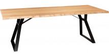Table de séjour rectangulaire Chêne naturel L230 pieds métal – MAXUS