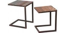 Tables gigogne acier vieillie