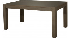 10464 - Table à manger 1 allonge L140 chêne gris titane