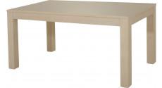 10469 - Table à manger 1 allonge L160 chêne blanc pierre