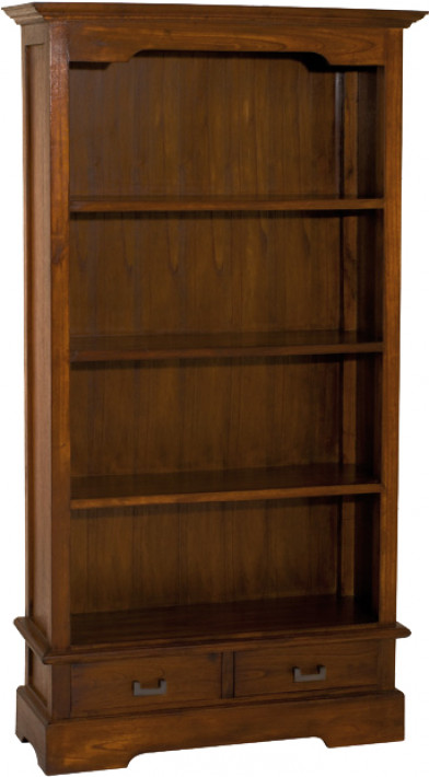 Bibliothèque ouverte mindi 2 tiroirs